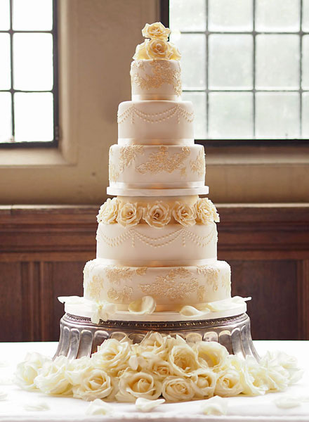 5 Tier Wedding Cake, Rhinefield House, New Forest
