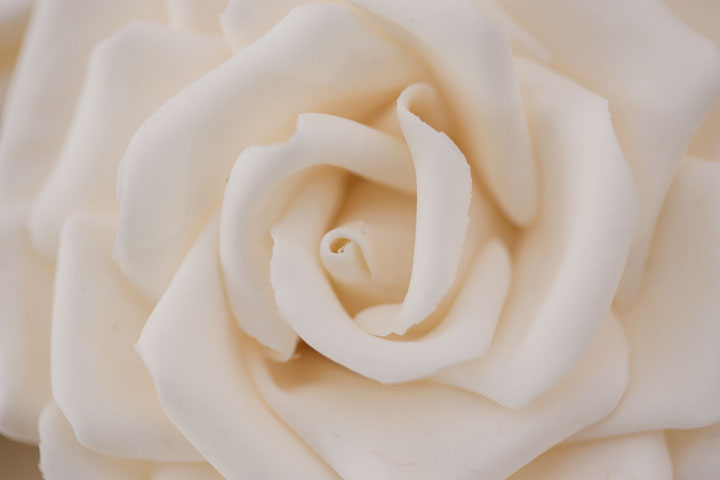 Hand Crafted Sugar Rose, from Falling Roses Wedding Cake