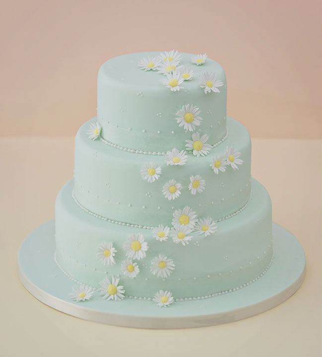 Falling Daisy's Wedding Cake