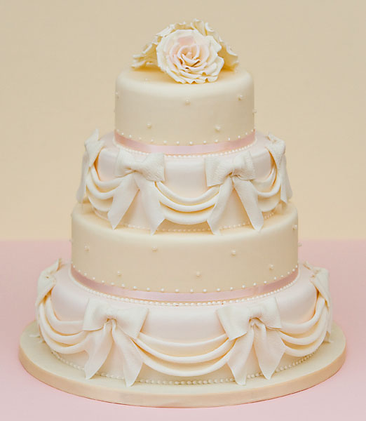 Swags & Bows, Wedding Cake, 4 tier