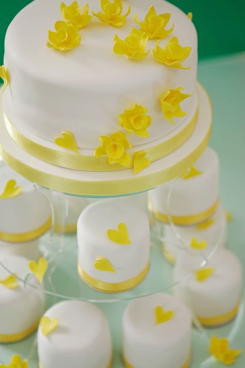 Yellow Heats & Daffodiles, Individual Wedding Cakes